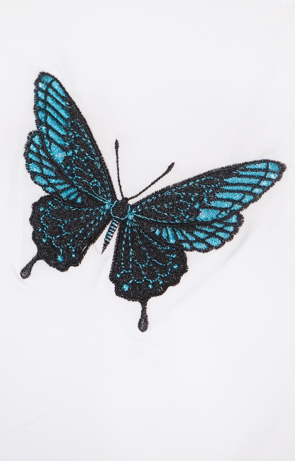 Butterfly Embroidery T-shirts (white)