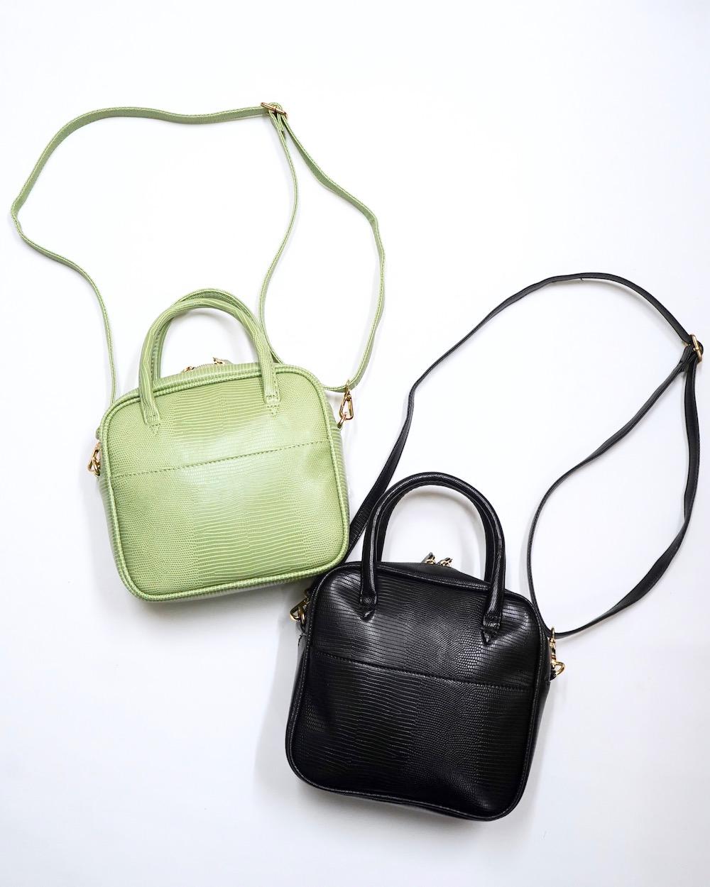 2way Square Shoulder Boston Bag (black)