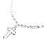 Die Cutting Cross Motif Necklace(silver)