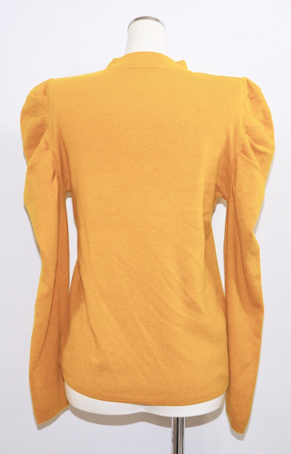 Basic Puff Shoulder Knit Tops (yellow)
