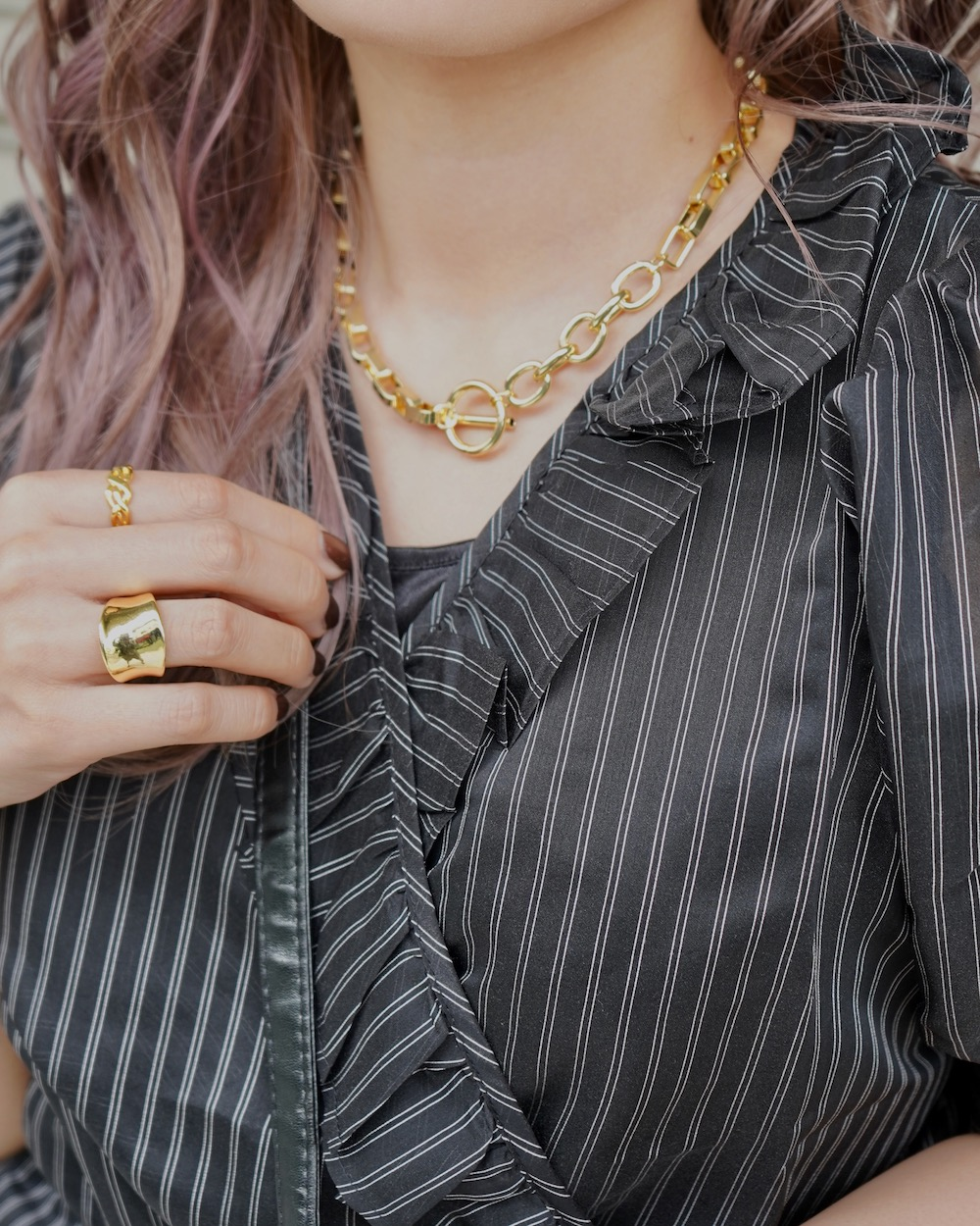 Gold Big Chain Necklace