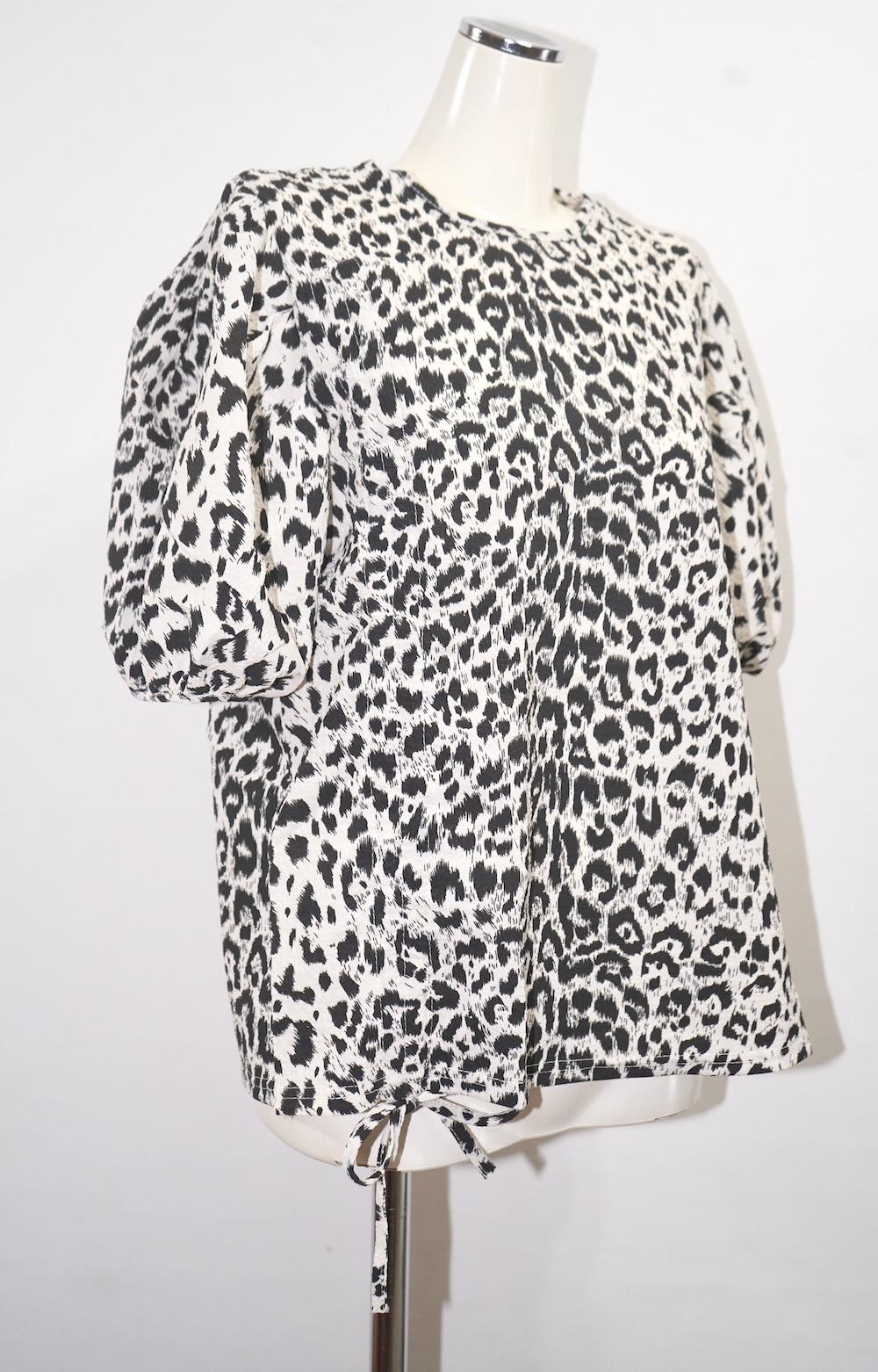 Monotone Leopard String Tops (white)