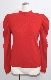Basic Puff Shoulder Knit Tops (red)