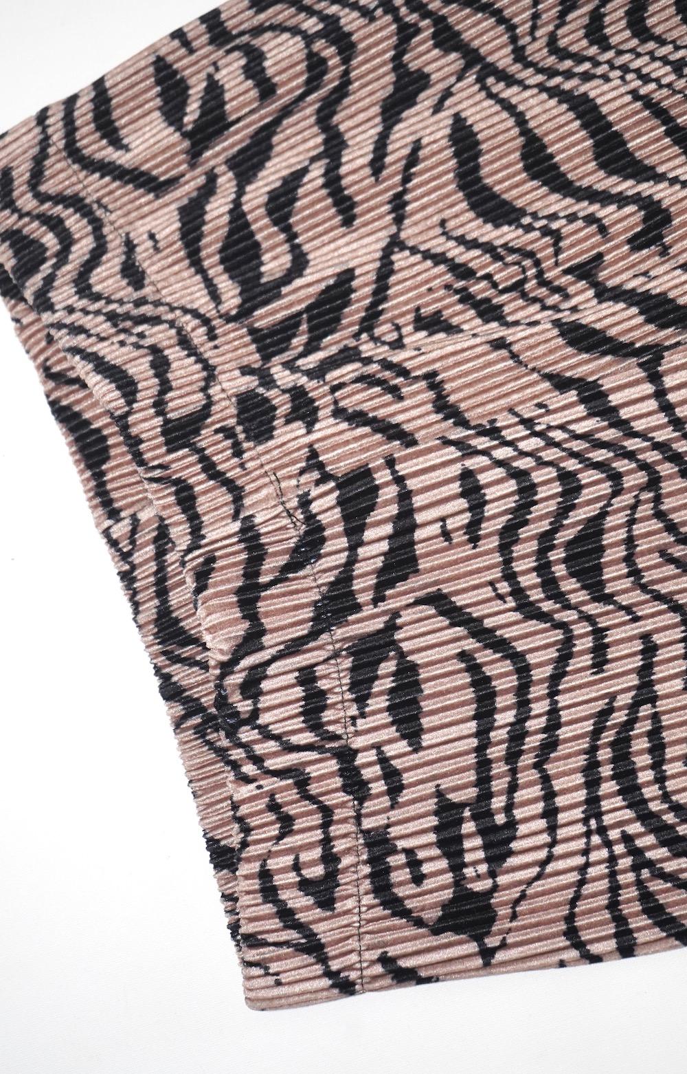 Zebra Pleats Easy Wide Pants (beige)