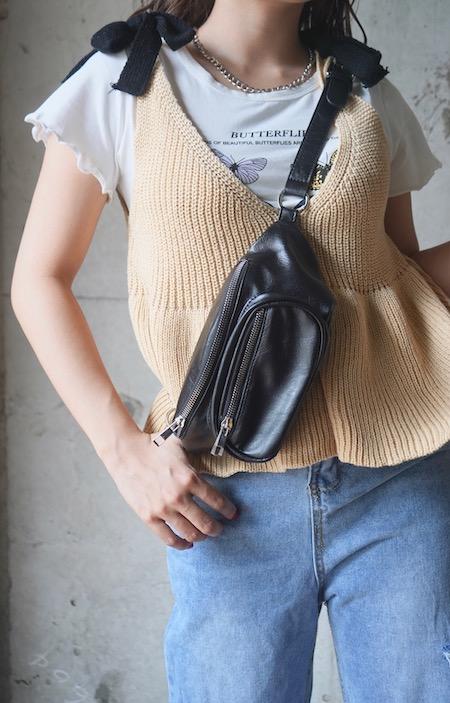 Shoulder Ribbon Camisole (beige)