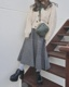 Monotone Check Knit Long Skirt