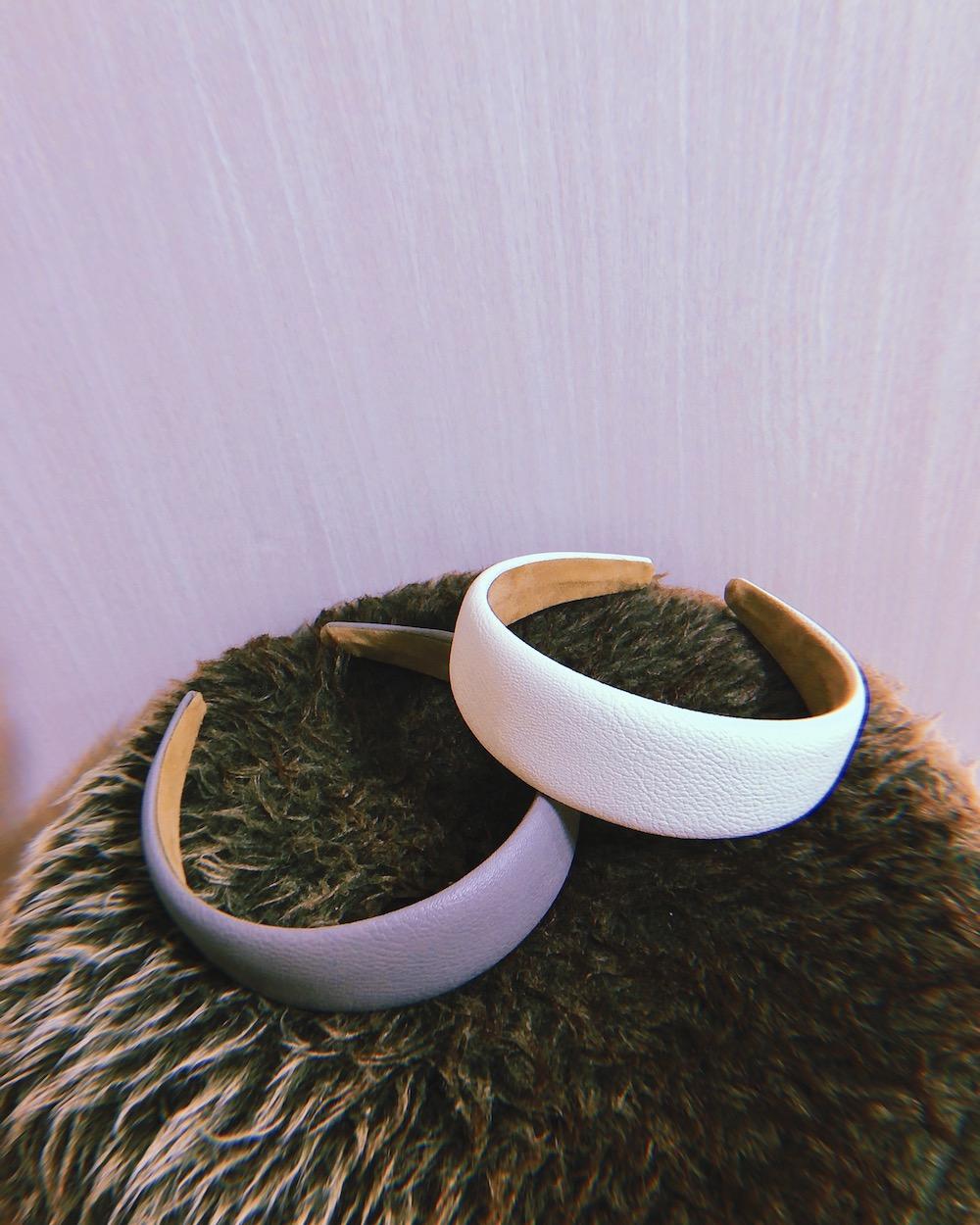 (全2色) Leather Touch Hairband