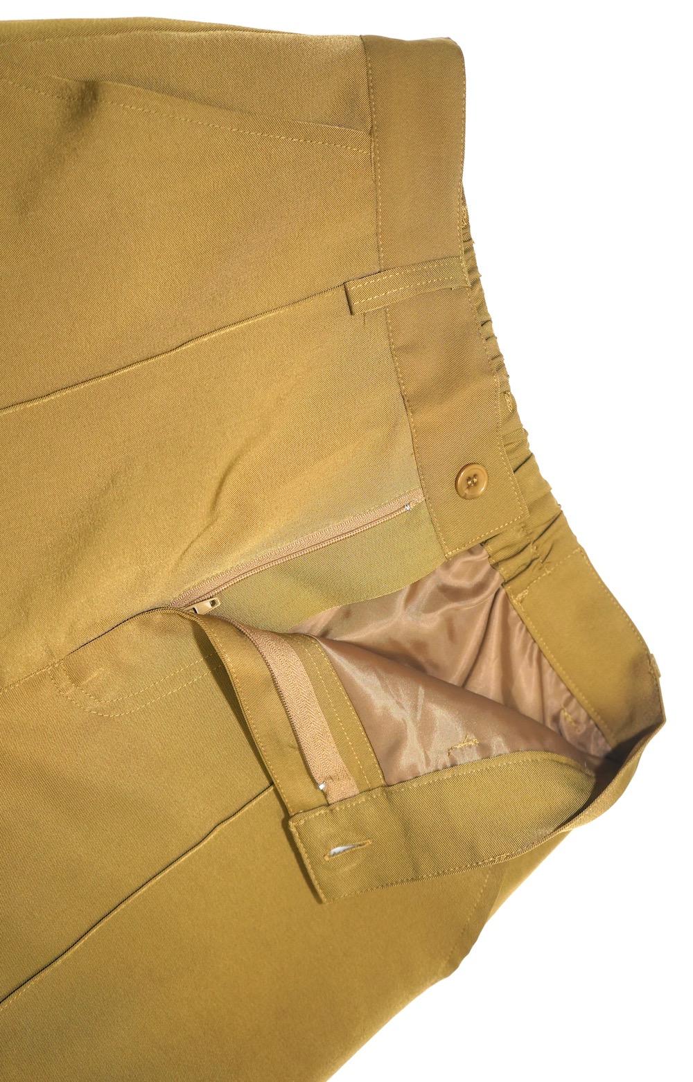 Center Press Flare Slacks (mustard yellow)