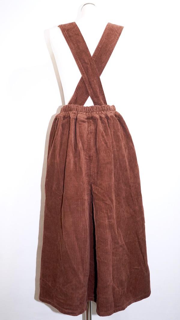 2way Corduroy Flare Jumper Skirt (brown)