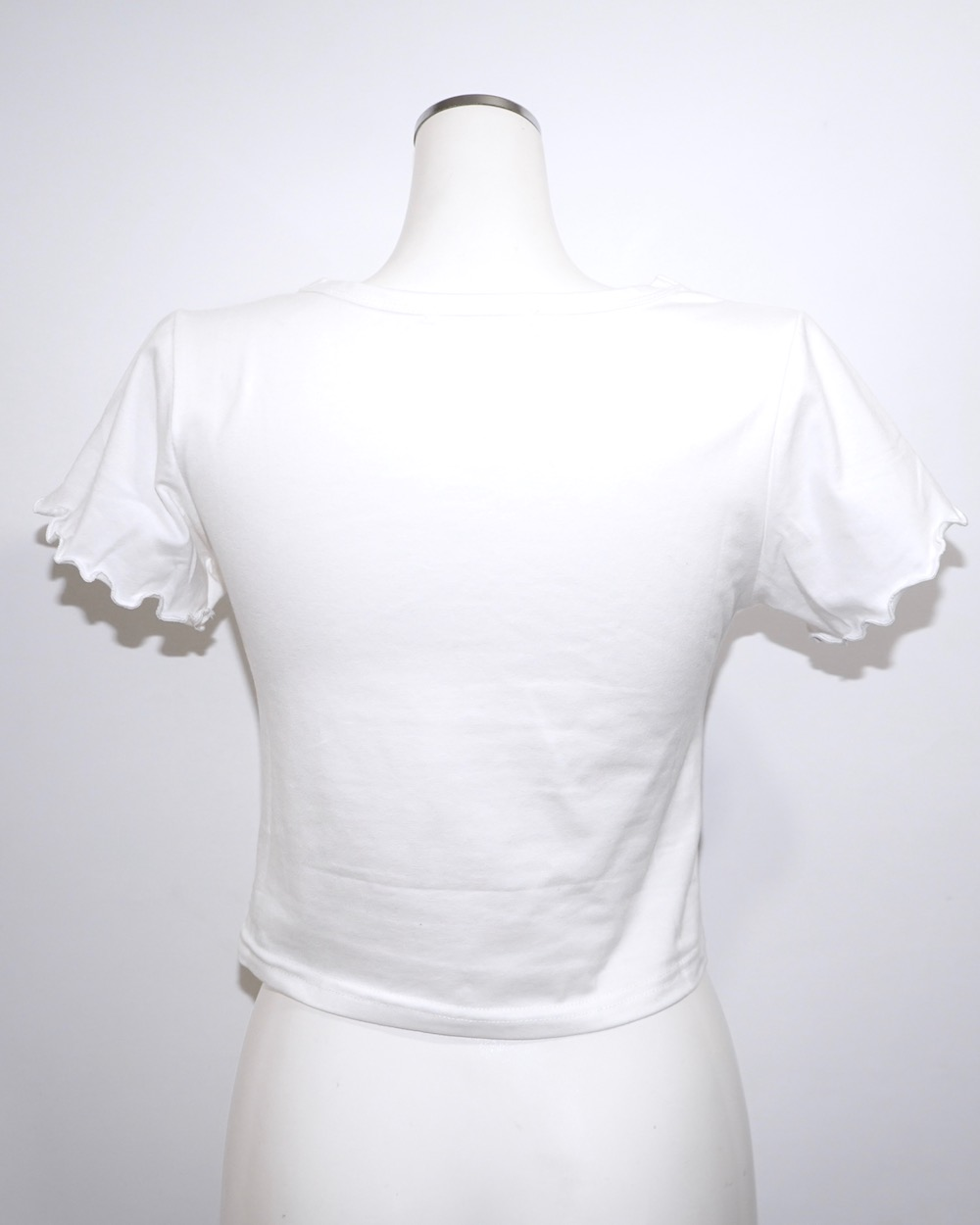 Butterflies Frill Sleeve S/S Tops (white)