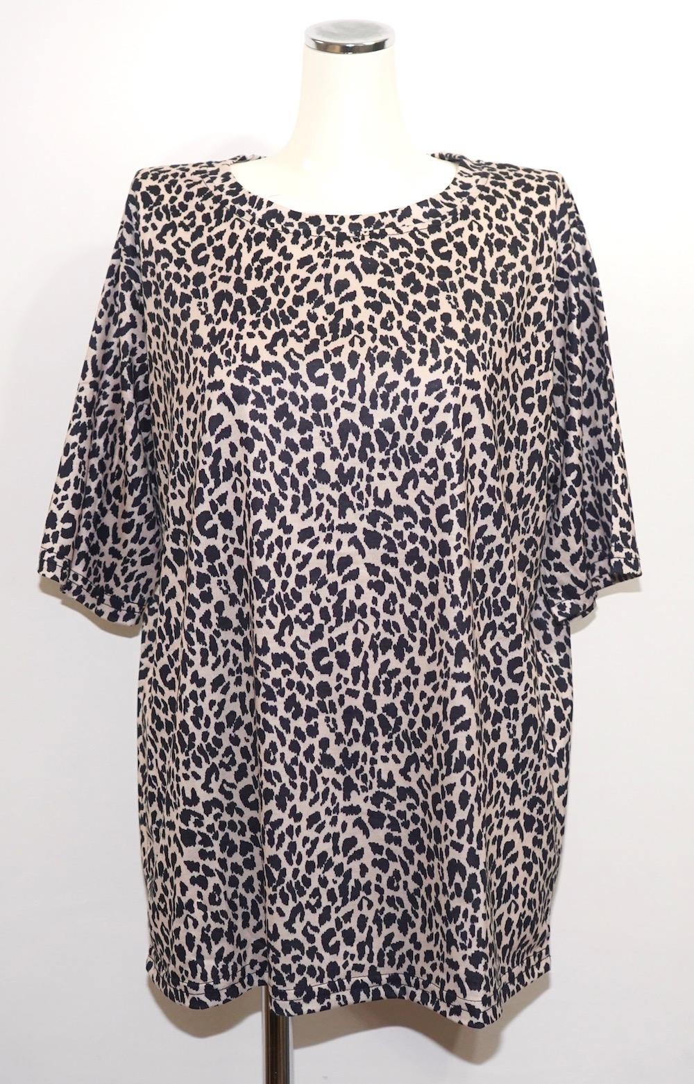Leopard Pattern Big T-shirts (beige)