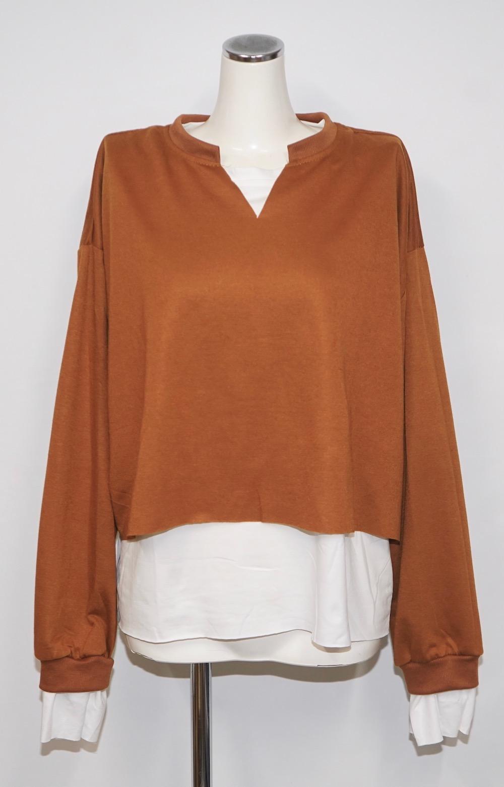 Layered Design Sweat PO (terracotta brown)