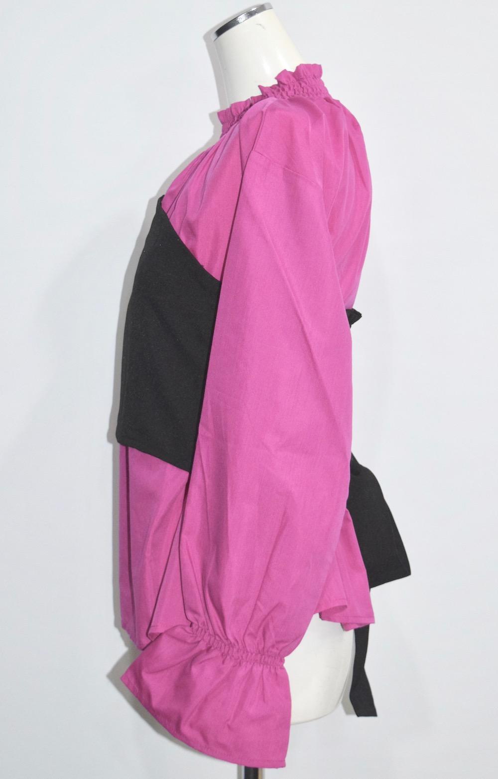 Balloon Sleeve Blouse & Bustier 2P SET