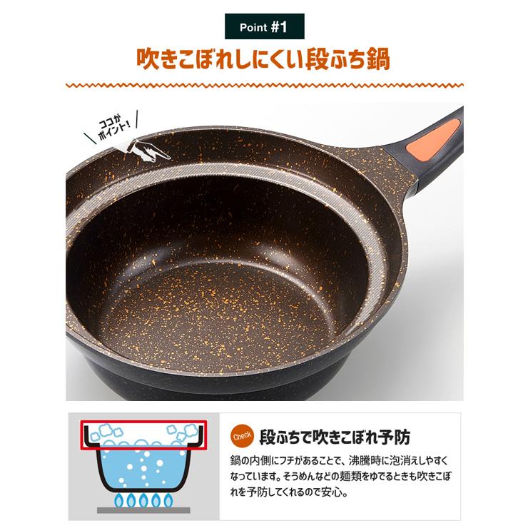 IHゴールドマーブル鍋型フライパン 24cm