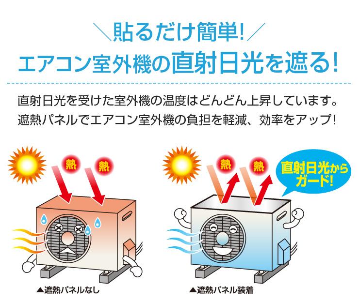エアコン室外機遮熱パネル貼付式 2台分