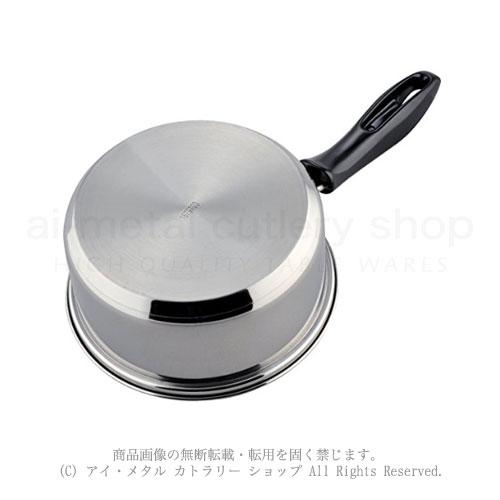 200VIH他オール熱源対応三層鋼底調理鍋シリーズ Mealend(ミレンド)片手鍋16cm