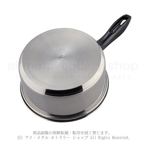 200VIH他オール熱源対応三層鋼底調理鍋シリーズ Mealend(ミレンド)片手鍋18cm