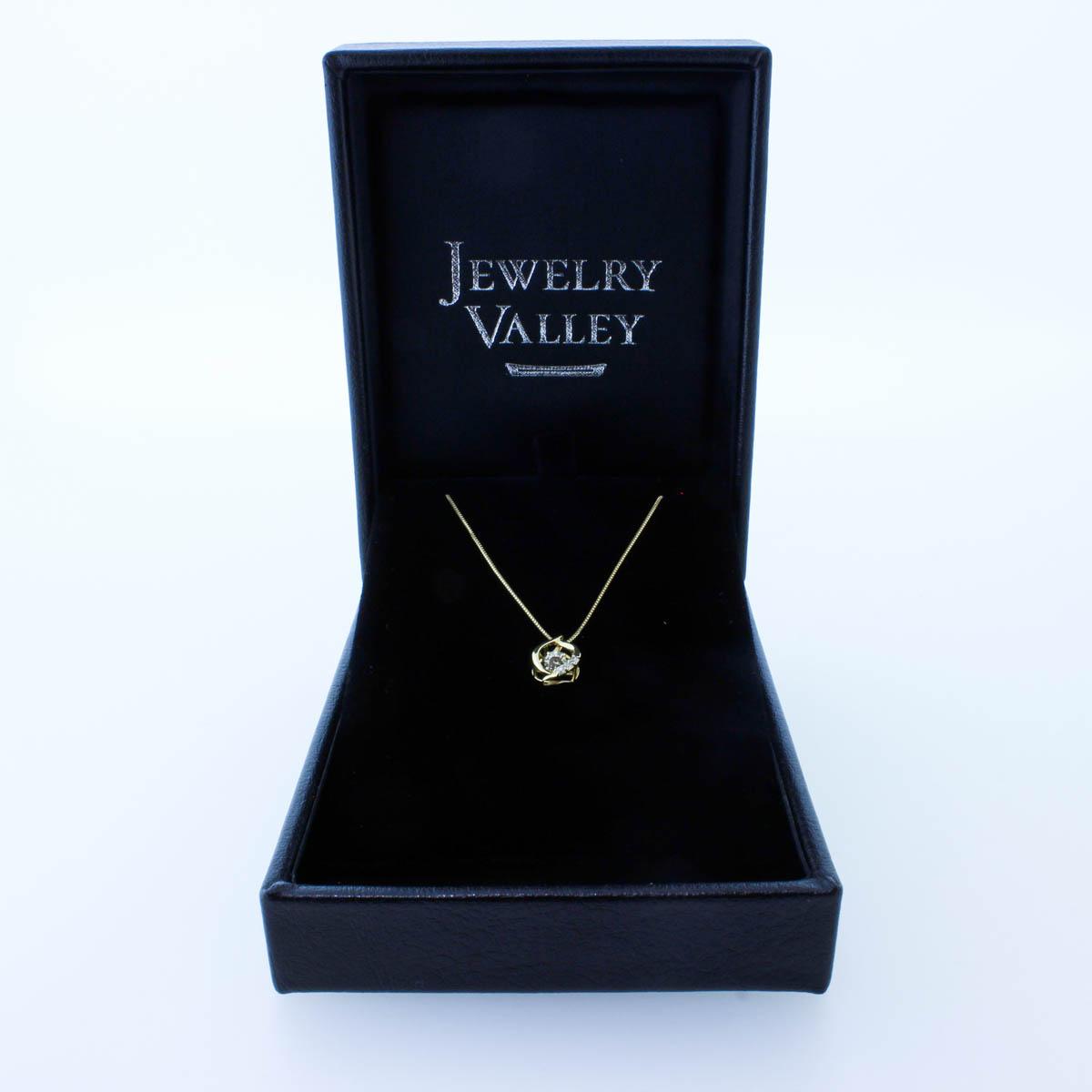 K18YG ダイヤモンド ネックレス