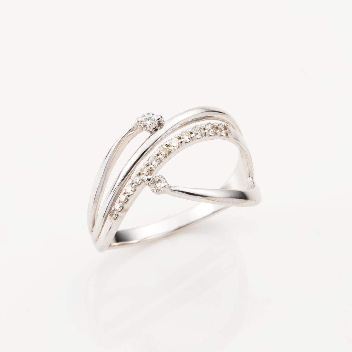 K10WG ダイヤモンド リング