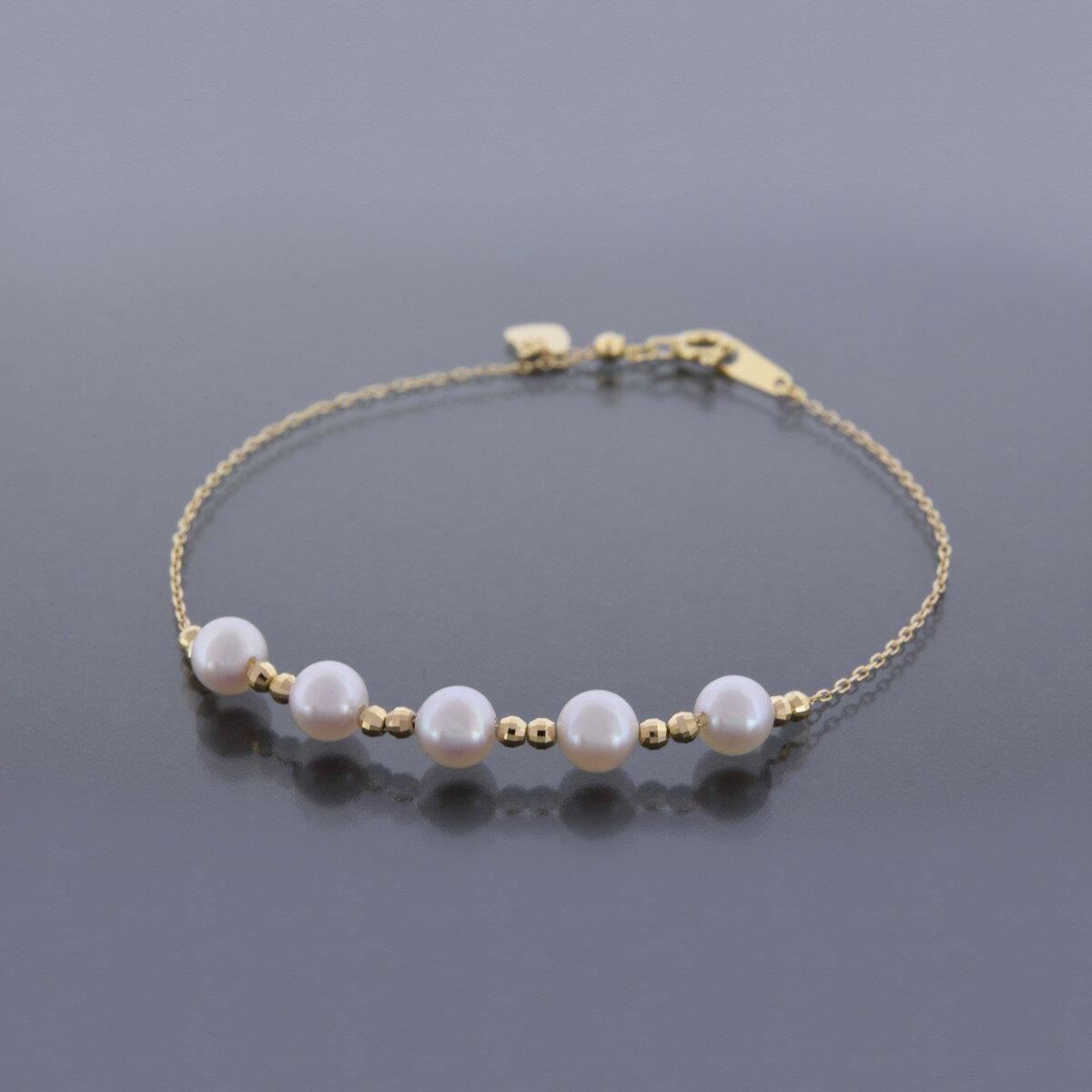 K18YG アコヤ真珠 ブレスレット