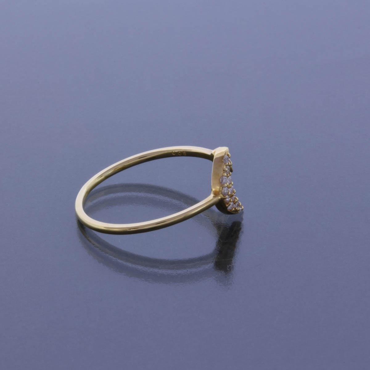 K18YG ダイヤモンド リング  月 星 ムーン スター デザイン