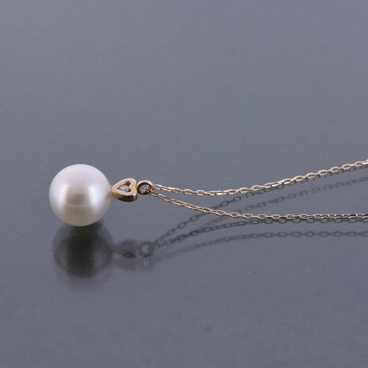 K18PG  K18YG アコヤ真珠 ネックレス