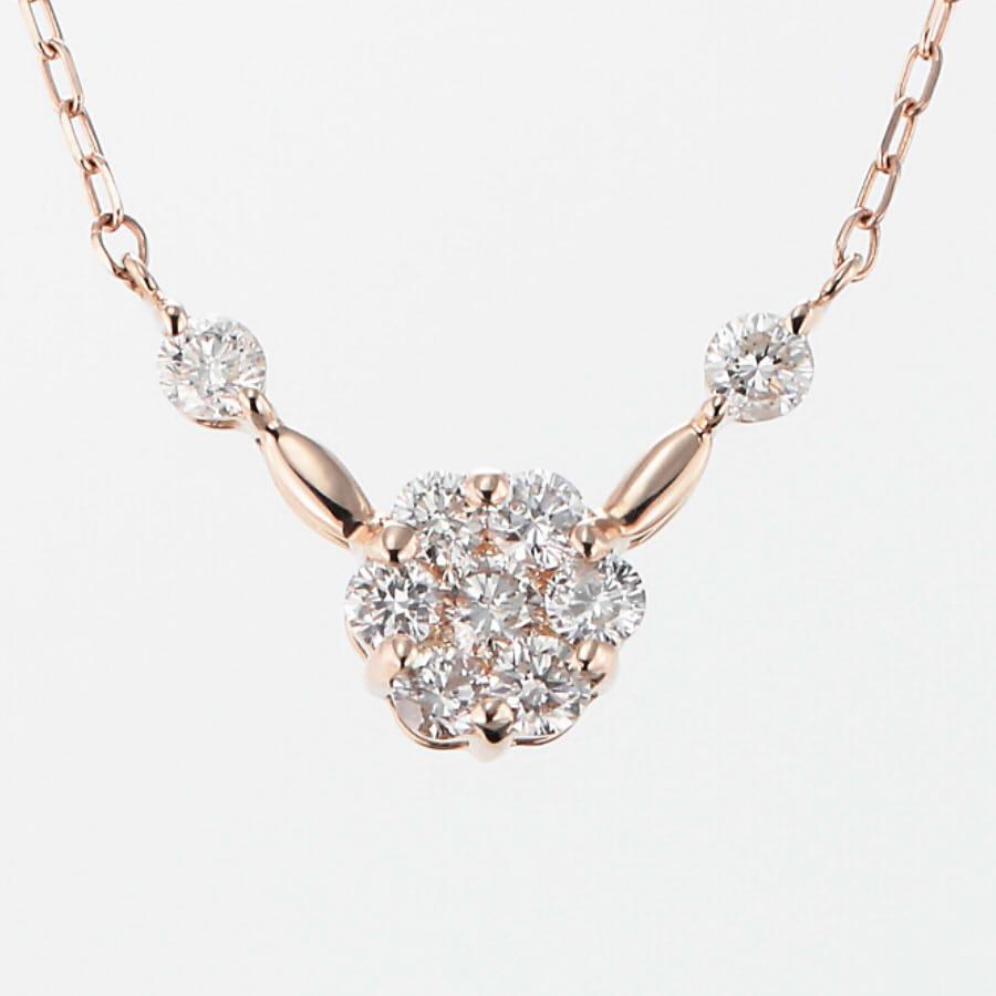 K18YG K18PG K18WG ダイヤモンド ネックレス