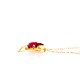 K18YG 赤珊瑚 ペンダント ネックレス ハート型 モチーフ