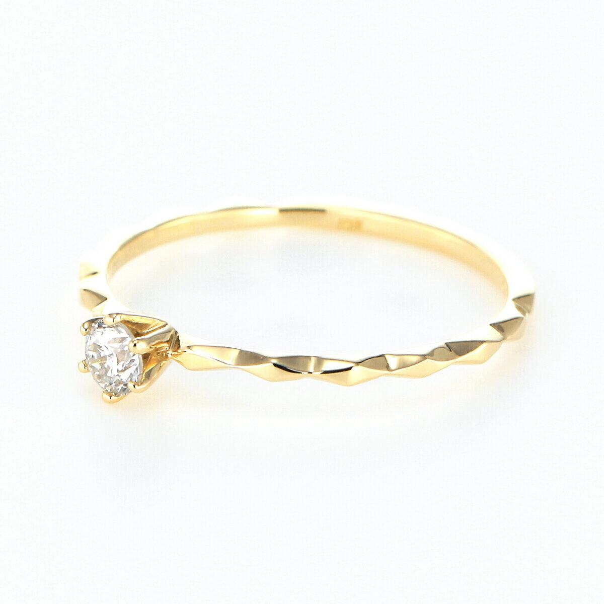 ≪雑誌JJ掲載≫K18YG K18PG K18WG ダイヤモンド リング