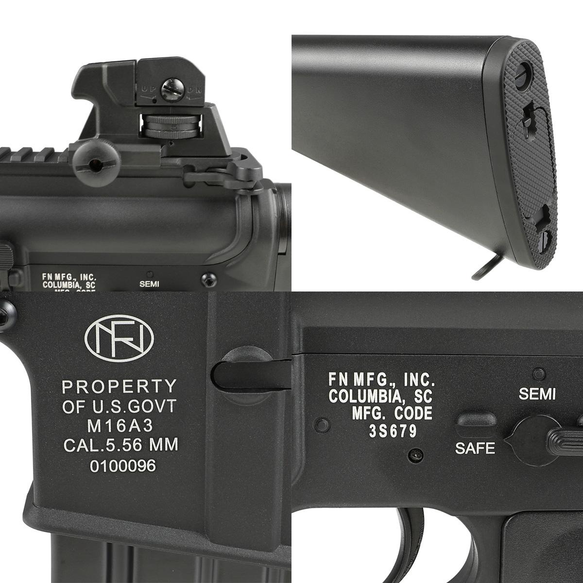 【同梱不可】 SRC FN M16A3 フルメタル電動ガン NV (FN Marking JP Ver.) 【配送業者:佐川急便限定】