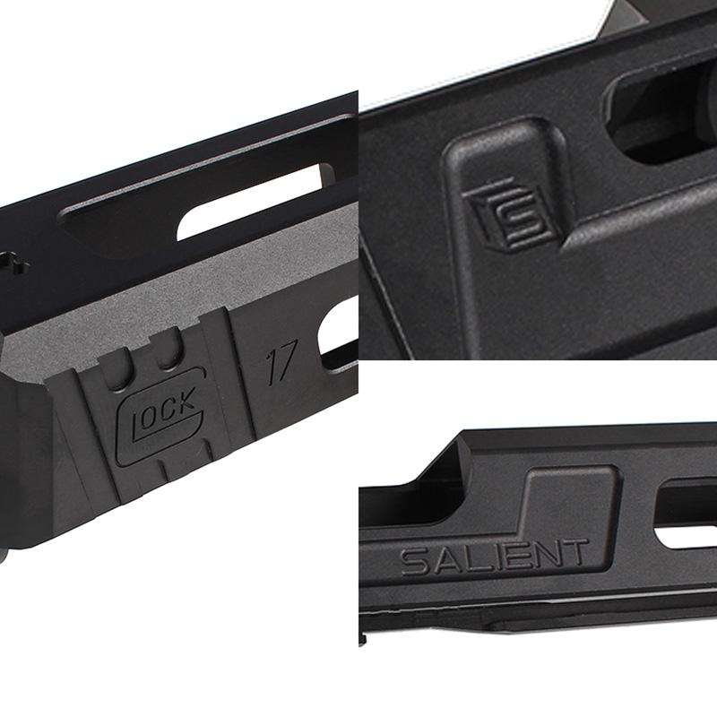 Guns Modify Glock17 SAI Tier Oneスタイル RMRスライド/タクティカルバレルセット (Silverバレル 14mm逆ネジ/東京マルイ対応)