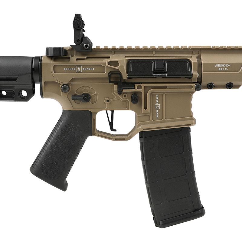 【同梱不可】 Double Eagle AR-15 Aeroknox×Ascend Armory Custom AEG (電子トリガー搭載/UTRシリーズ) ガンケース付 2-Tone 【配送業者:佐川急便限定】