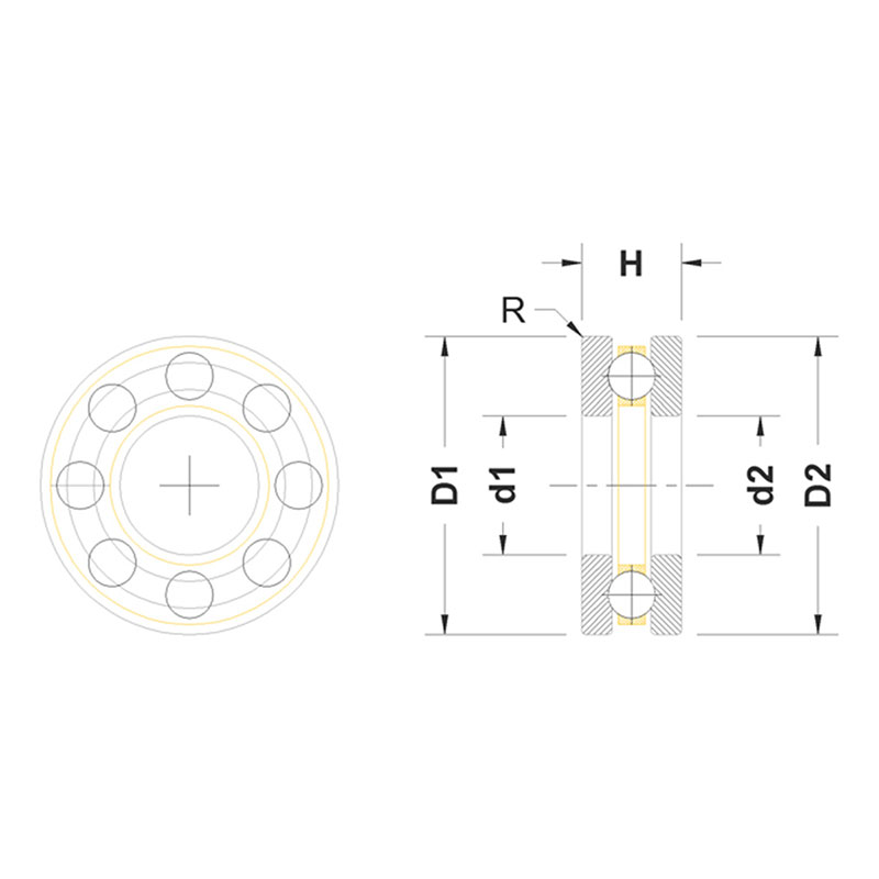 Maxx Model スラストボールベアリング (10×18×5.5mm)