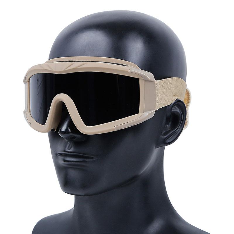 WoSporT デザートストームゴーグル レンズモデル(3色レンズ付属) TAN