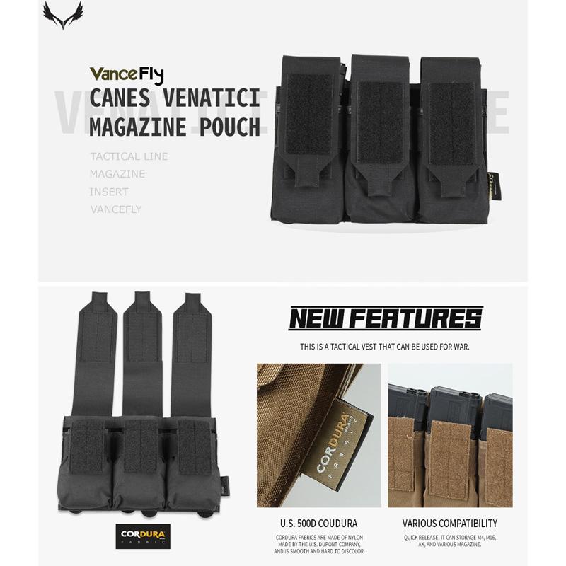 VanceFly Canes Venatici マガジンポーチ Black
