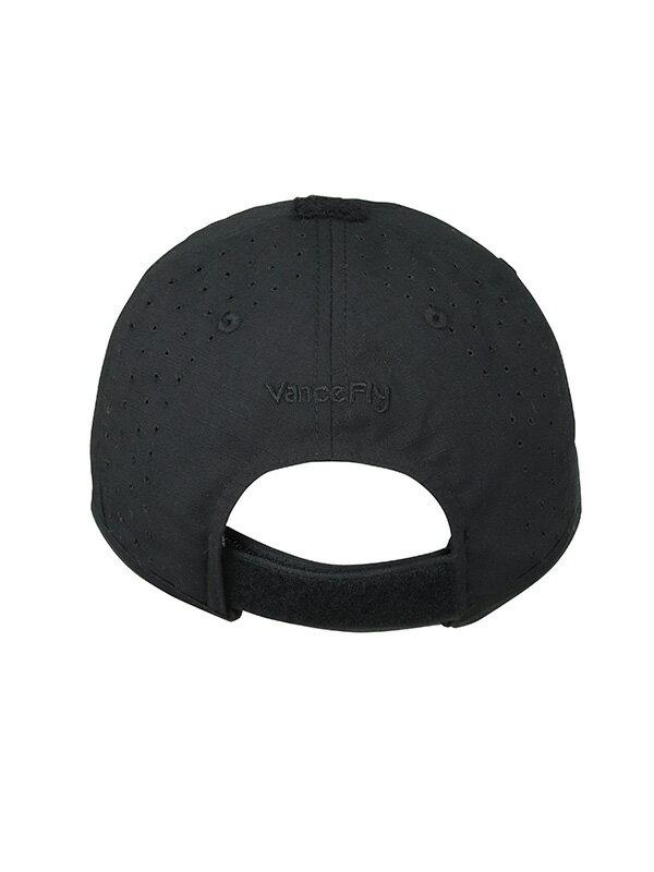VanceFly RVS ダブルバイザーベルクロキャップ Black/Black