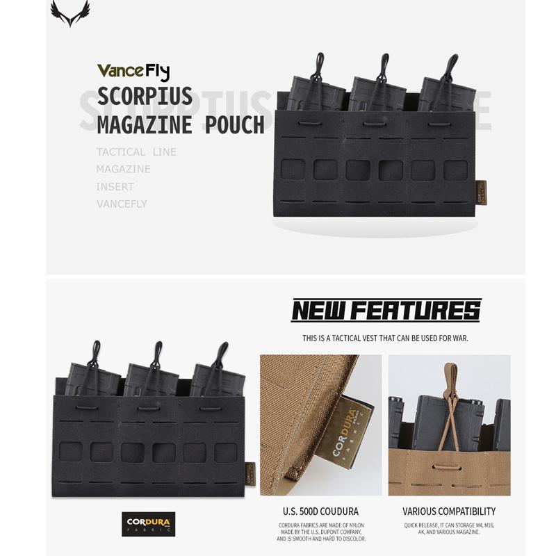 VanceFly Scorpius マガジンポーチ Black