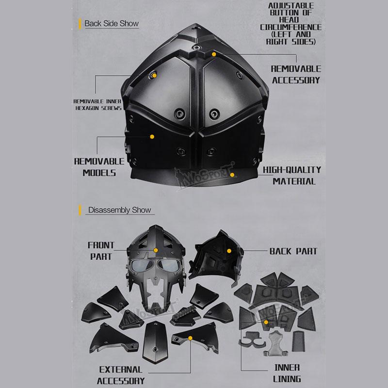 WoSporT モジュラーヘルメット ファン付 Rock