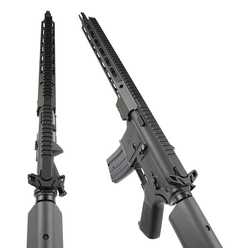 Double Eagle M4 URG-I/Mk16 14.5inch AEG (電子トリガー搭載/JP Ver.) Black ガンケース付 【Double Eagle以外は同梱不可】【配送業者:佐川急便限定】