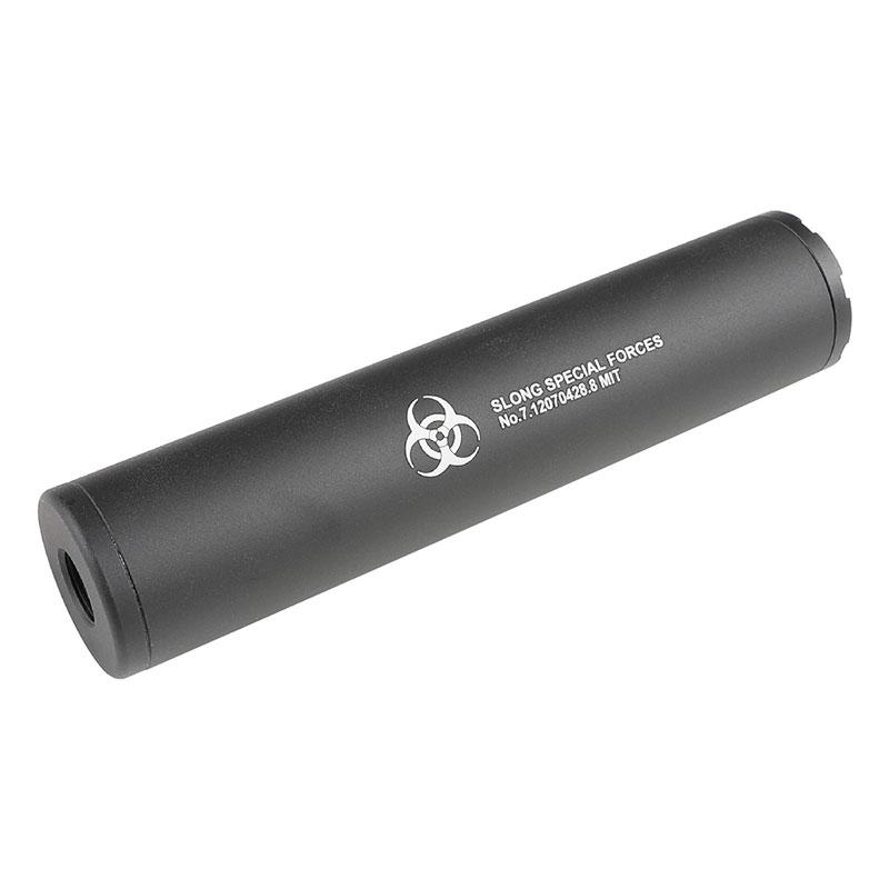 SLONG Airsoft SLONGスペシャルフォースサイレンサー (14mm逆ネジ/Φ35×160mm)