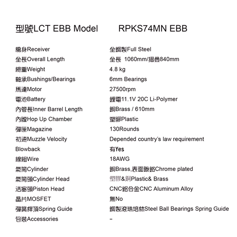 LCT RPKS74MN AEG (EBB/JP Ver.)