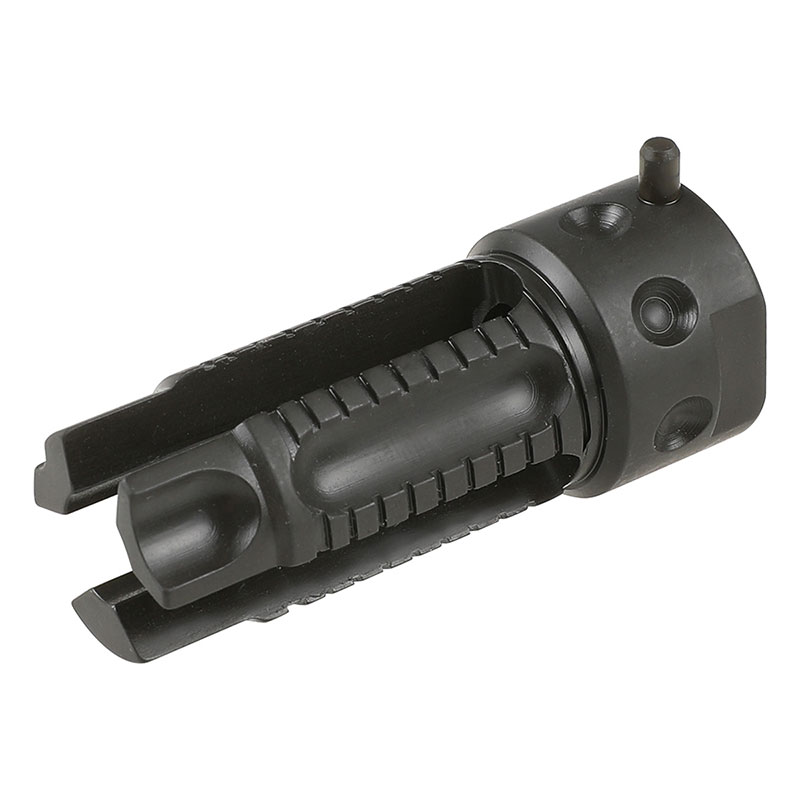 Zparts KAC QDCタイプ 3-Prongスチールフラッシュサプレッサー (14mm逆ネジ)