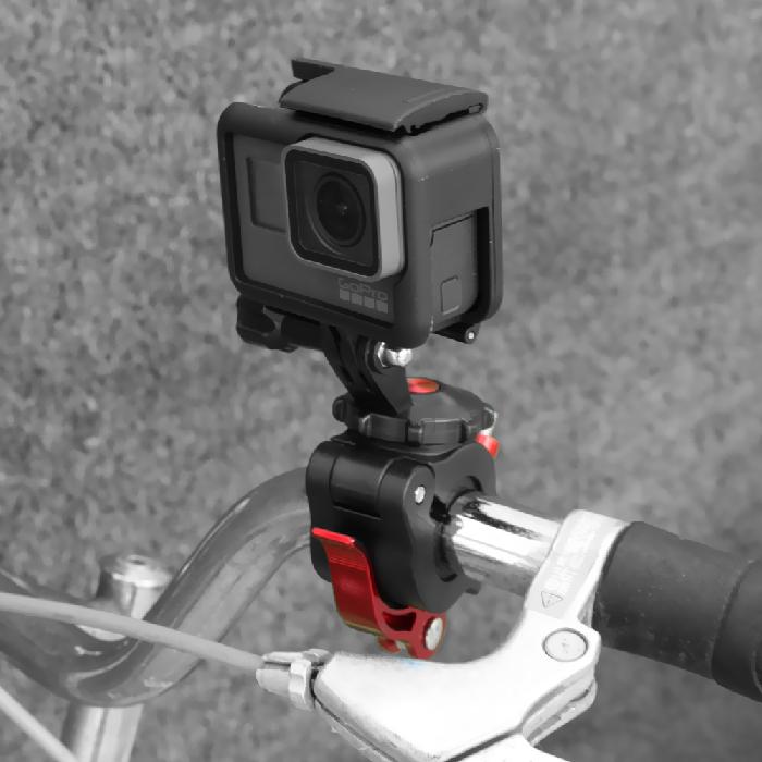 Nancy GoPro用 自転車クランプ バイクマウント【Insta360 ONE R・Osmo Action (Insta360 ONE X2 別途アダプター必要) 】