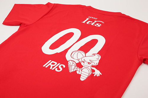 背面選手ナンバー入りTシャツ(#00 IRIS)