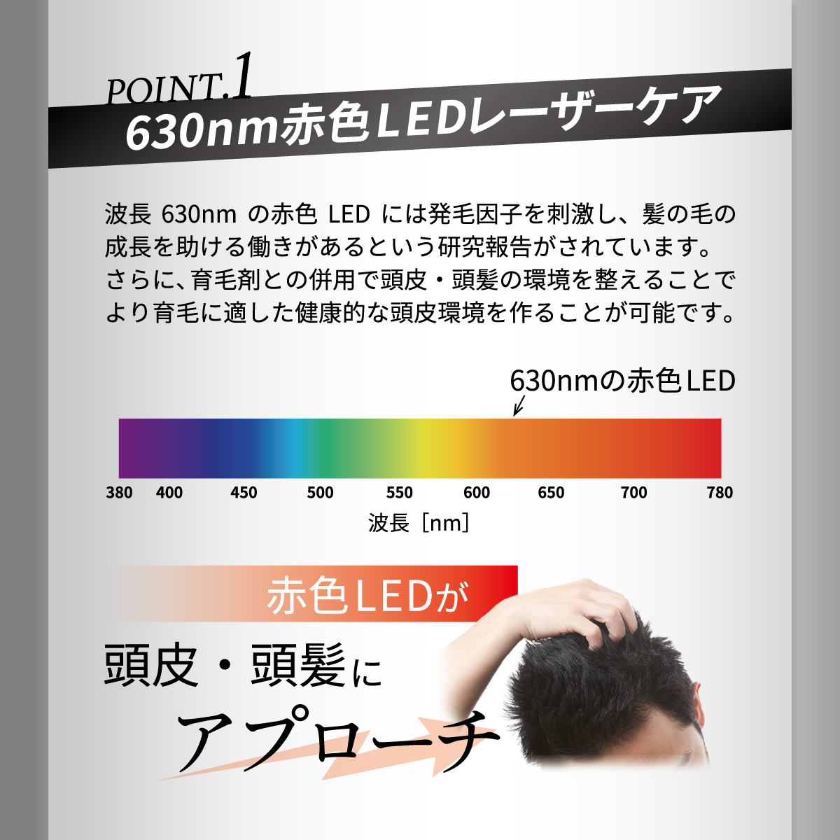 【LEDリライブ】 頭皮頭髪ケア