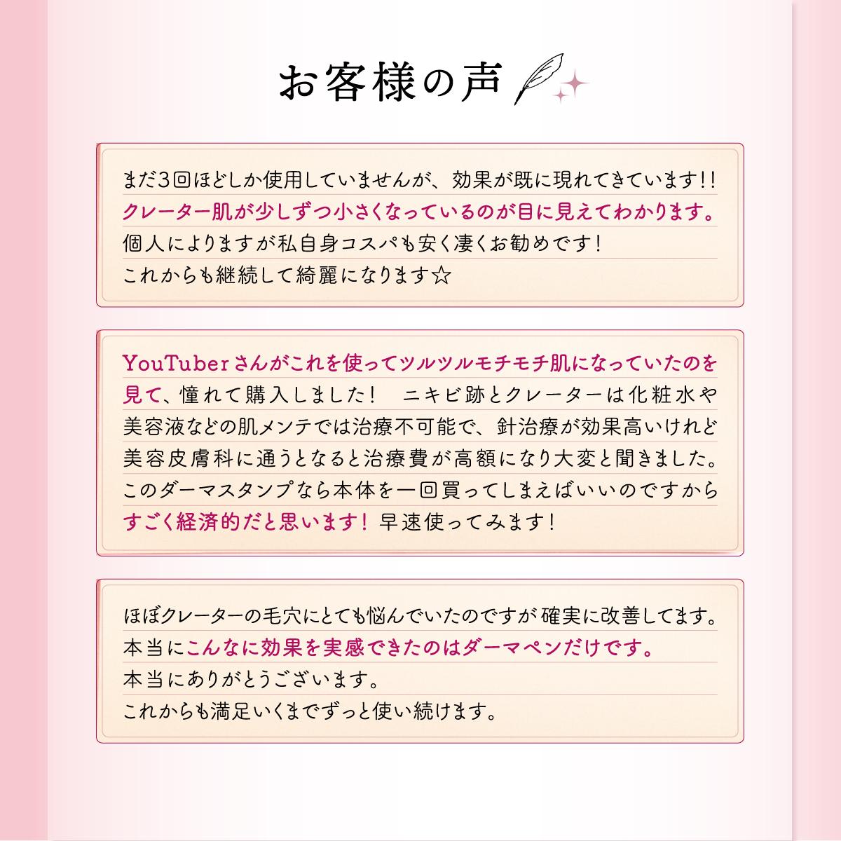電動ダーマスタンプ 日本語説明書付 12針タイプ替えチップ 3つ付 0.25ミリ-2.0ミリに調整可能
