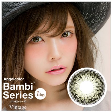 エンジェルカラーバンビシリーズ【Vintage】 (Angel Color Bambi seies)【10枚入×2箱】(1日使い捨て度ありカラコン)【ゆうパケット送料無料】 【代金引換・同梱・日時指定不可】