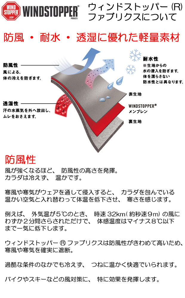 日本製 水を含みにくく防風性に優れた素材 ウインドストッパー ネックウォーマー かぶり式 AK products DEVA【防寒/スポーツ/バイク】