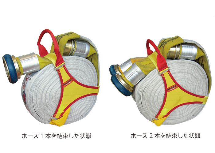 BULLRESCUE ブルレスキュー ホース結束ベルト BE-009 二重巻き専用 収納ホースの固定 型崩れ防止に 消化ホースの運搬にも便利