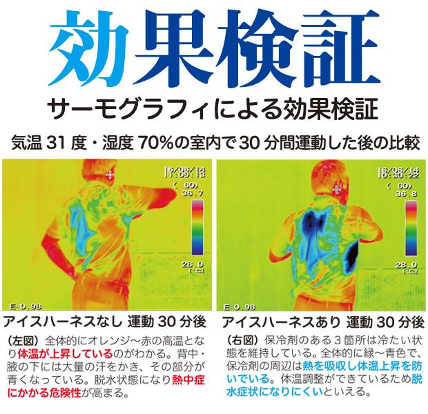 暑さ対策 熱中症対策グッズ 冷却ベスト 上位モデル アイスハーネス 蓄光反射付き 夜光タイプ 保冷剤6個付きセット